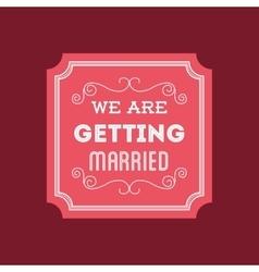 wedding marriage love vector image vector image