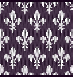 White royal lilies on purple vector