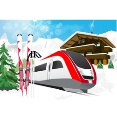 Winter scenery with snow vector