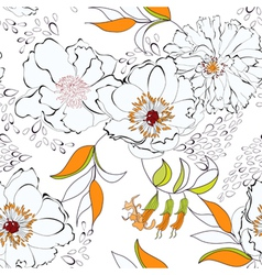 Seam flow23sentseamless background with flowers vector