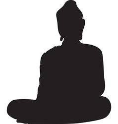 Silhouette of a buddha vector