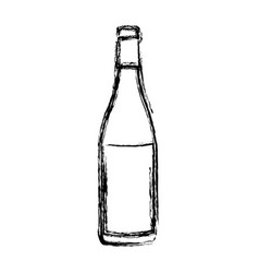 Blurred silhouette champagne bottle with label vector