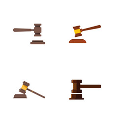Flat icon lawyer set of government building legal vector