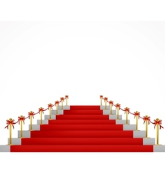 Red carpet and stairs for vip persons vector