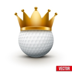 Golf ball with king crown vector