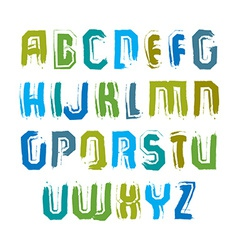 Multicolored handwritten uppercase letters doodle vector