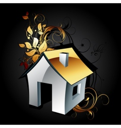 web icon house vector image