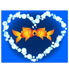 Goldfish love vector