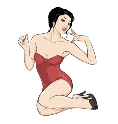 Pinup girl vector