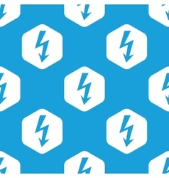 Voltage lightning hexagon pattern vector