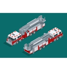 Fire truck isolated fire suppression and victim vector
