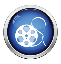 Movie reel icon vector
