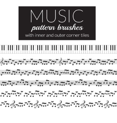 Musical pattern brushes vector