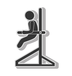 Male trainning gym vector