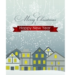 Abstract Christmas and New Year Background in vector image vector image