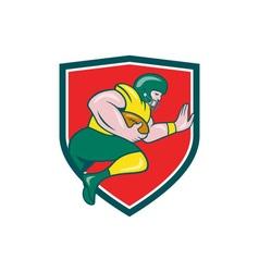 American football running back charging crest vector