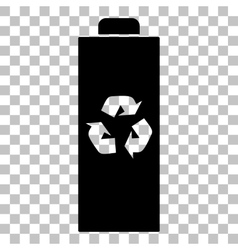 Battery recycle sign Flat style vector image vector image