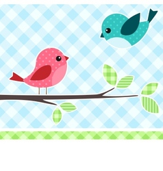 Birds on branch vector
