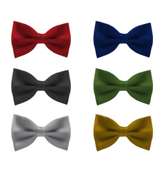 Bowties realistic vector