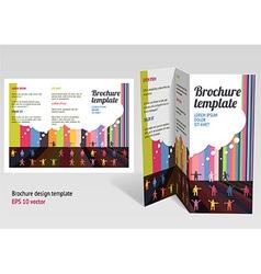 Brochure booklet z-fold layout editable design vector