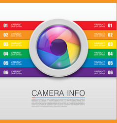 Camera info banner vector