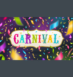 Carnival greeting card vector