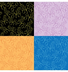 collection of floral patterns vector image