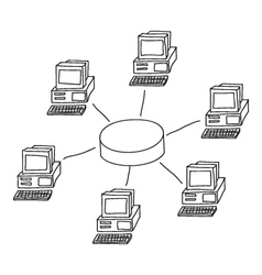 Computer Network vector image vector image