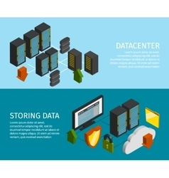 Datacenter Banner Set vector image vector image
