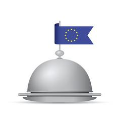 european flag dinner platter vector image vector image