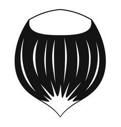 Hazelnut icon simple style vector