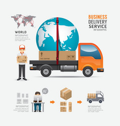 Infographic social business delivery service vector