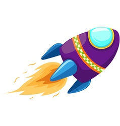 isolated rocket vector image vector image