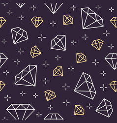 jewelry seamless pattern diamonds line vector image vector image
