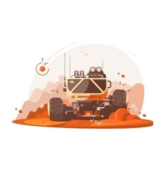 Mars rover for scientific research vector