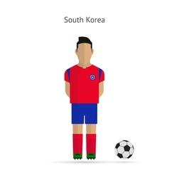 National football player South Korea soccer team vector image vector image