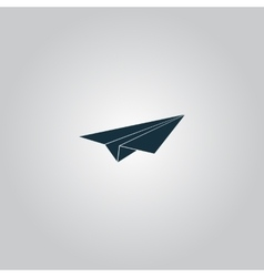 Paper Plane sign vector image vector image