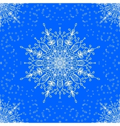 seamless with winter lace snowflake motiv vector image