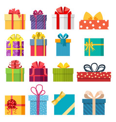 set of christmas gift box vector image