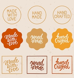 set of design elements and badges vector image vector image