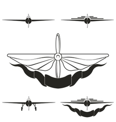 set of logos depicting airplanes vector image vector image