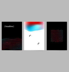 set of modern minimal design covers with abstract vector image