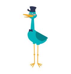 Stork cartoon animal infantile vector