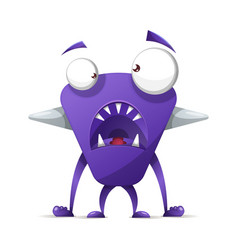 terrible cute monster - cartoon characters vector image
