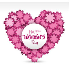 Women day greeting cards icon vector