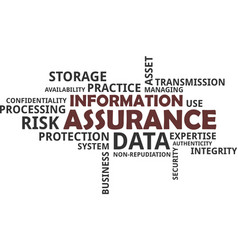 word cloud - information assurance vector image vector image
