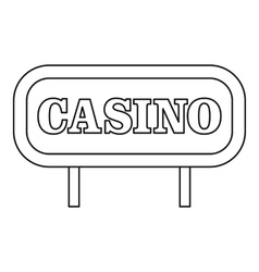 Casino signboard icon outline style vector