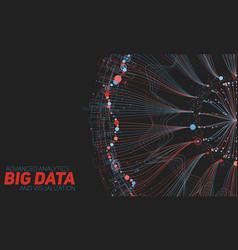 Big data round visualization vector