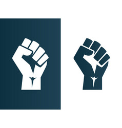 Raised fist logo icon poster - isolated vector