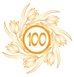 100th anniversary banner vector